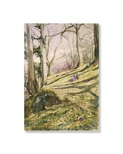 Wooded Slope with 4 Figures Greeting Card