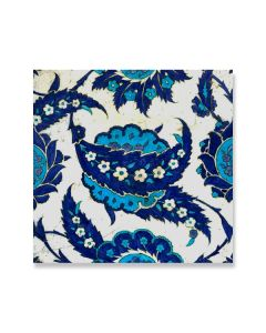 Iznik Tile with Serrated Leaves Greeting Card