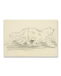Cat Walking to Right Greeting Card