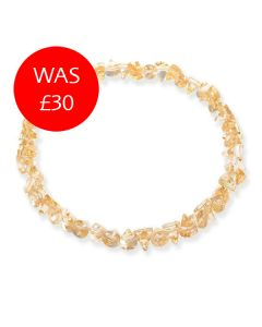 Short Cone Gold Flake Necklace Sale Image
