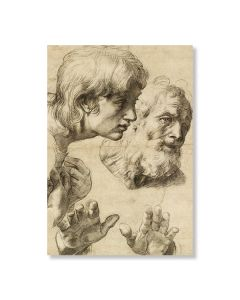 Heads & Hands of Two Apostles Greeting Card