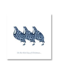 Ashmolean Three French Hens Christmas Cards