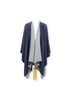 Tess Wrap in Navy Grey