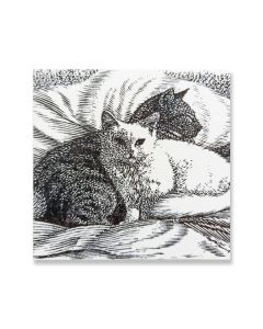 The Artist's Cats Greeting Card