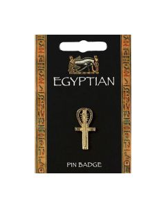 Ankh Gilt Pin Badge