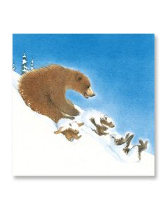 Snow Bears Sledging Christmas Card Pack