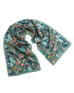 William Morris Golden Lily Green Scarf