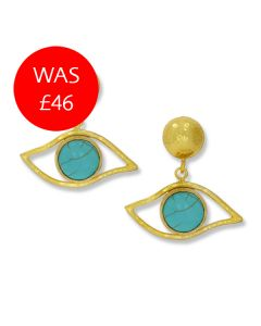 Turquoise Eye Earrings