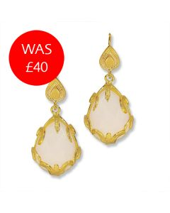 White Chalcedony Earrings Sale Image