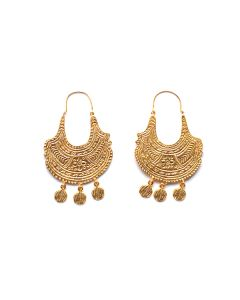Etruscan Statement Hoop Earrings