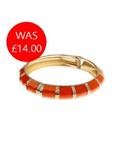 Orange & Gold Hinged Bangle