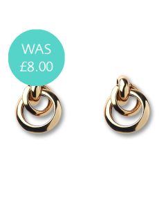 Gold Circle Knot Earrings