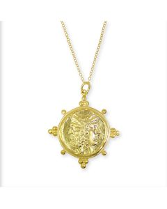 Roman Coin Statement Pendant Necklace