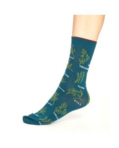 Herby Socks in Deep Teal