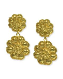 Etruscan Flower Earrings