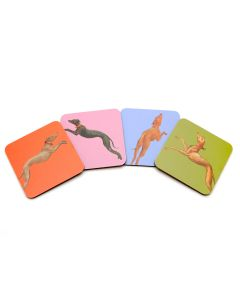 Hunt in the Forest Set of 4 Coasters