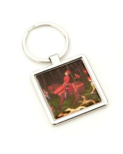 Keyring Hunt Square Metal