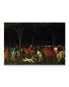 Hunt In The Forest Greeting Card