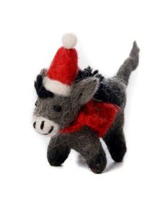Mini Donkey with Hat Decoration