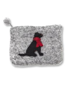 Black Lab Felt Purse