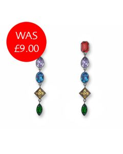Multi Colour Stone Drop Earrings