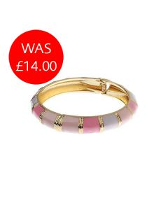 Pink & Gold Hinged Bangle