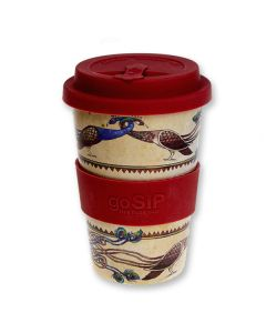 Peafowl Rice Husk Travel Mug