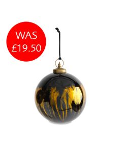 Giant Round Black Amber Bauble