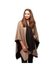 Tess Wrap in Camel Black