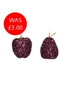 Purple Glitter Fruit Decoration