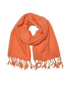 Orange Cotton Scarf