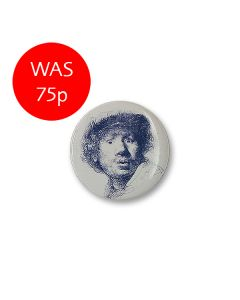 Rembrandt Face Button Badge