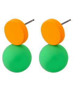 Ball & Disc Earrings