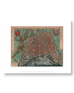 Map of Amsterdam Print 11x14