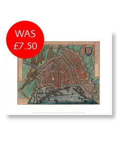 Map of Amsterdam 11x14 Print