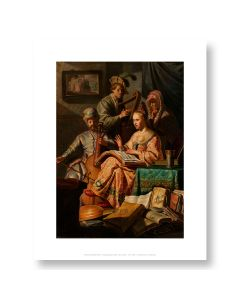 Musical Allegory Print 11x14