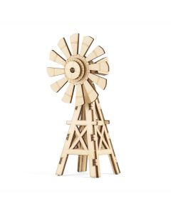 Mini 3D Wooden Windmill
