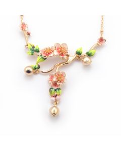 Apple Blossom Statement Necklace