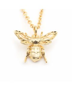 Mini Queen Bee Pendant Necklace