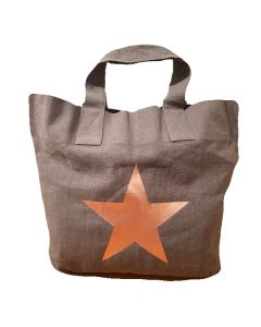 Charcoal Star Giant Shopper Bag