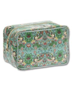 Strawberry Thief Teal Wash Bag