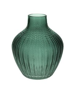 Small Green Ribbed Vase
