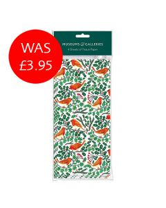 Robins and Holly Tissue Paper