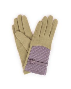 Lizzie Green Wool Gloves