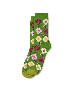 Green Climbing Flowers Socks