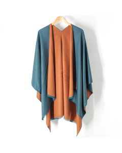 Tess Wrap in Teal & Camel