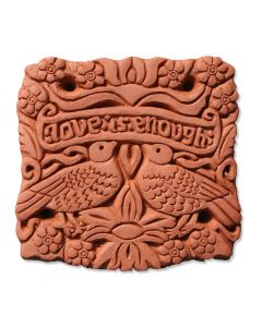 Love Is Enough Terracotta Tile
