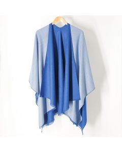 Tess Wrap in Cadet and Powder Blue