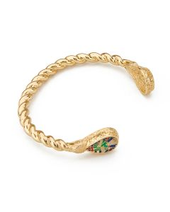 Alfred Jewel Torque Bracelet By Bill Skinner