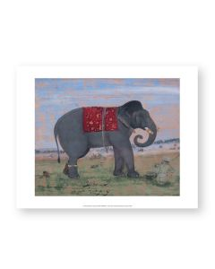 Elephant And Keeper Print